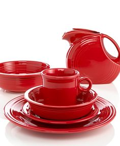 Fiestaware!  My daughter collects the red Fiesta, which the Homer Laughlin is across the river from us.