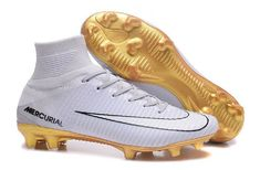 7d91222a7fd8 White Nike Christiano Ronaldo Mercurial Superfly V CR7 FG ACC Mens Soccer  Cleats  Nike
