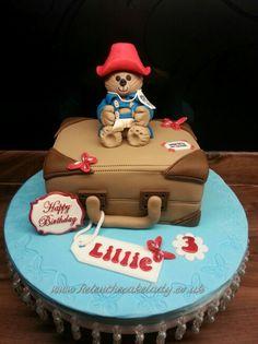 Paddington Bear birthday cake.  By www.helenthecakelady.co.uk Bear Birthday, Birthday Cakes, Paddington Bear Party, London Party, Jungle Cake, Teddy Bear Cakes, Fondant Tutorial, 4th Birthday Parties, Themed Cakes