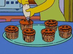 The Simpsons Halloween cupcakes