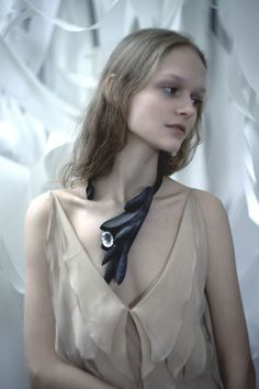 Tanel Veenre Neckpiece: Lonely Gardener Wood, rock crystal, silver, cosmic dust