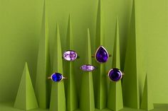 Colourful eclectic gem #rings by Wright & Teague