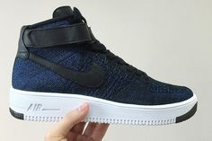 new style b424d 41b84 First Look At The Upcoming  Royal  Nike Flyknit Air Force 1 Nike Free Shoes