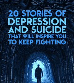 20 Stories Of Depression And Suicide That Will Inspire You To Keep Fighting. I hope that you can read these stories and that they inspire you to continue on the positive path that you have started out on. Depression Help, Managing Depression, Depression Support, My Demons, After Life, Keep Fighting, Personality Disorder, Angst, Mental Health