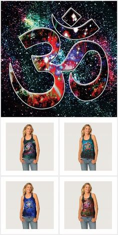 Universal OM COLLECTION. OM. The sound, the symbol, the soul. The universe within you is revealed when you possess a Universal OM item. You will be in balance with the universe and a more complete being. Rich colors, deep space, spiritual vision, what more is there to life? Be aware that the lighter colored T-shirts and tops are not printed with a white pad below the art that allows the colors to really shine.  Over 3000 unique and beautiful products at my Zazzle store. Open 24/7 Universe…