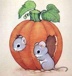 Mice and pumpkin Cute Animal Drawings, Animal Sketches, Cute Drawings, Autumn Illustration, Cute Illustration, Mouse Pictures, Art Pictures, Pet Mice, Hamster