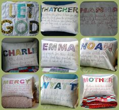 Lovely cushions. Would make a great present for a godchild or new baby. Find them on etsy at mixedmediamamma.