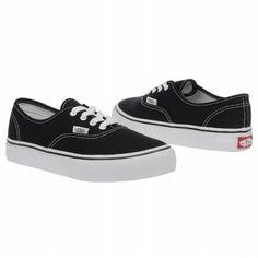 Vans Authentic Pre Shoes (Black) - Kids' Shoes - 12.5 M