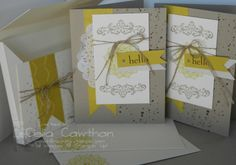 Happy Day, Gorgeous Grunge, Crumb Cake and Summer Starfruit; card set with a box