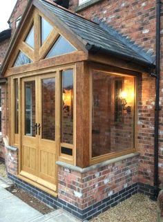 Patient conducted entry porch design check out here landhausstil Porch Uk, Front Door Porch, Cottage Porch, Porch Doors, Front Porch Design, House With Porch, House Front, Porch Designs Uk, Enclosed Front Porches
