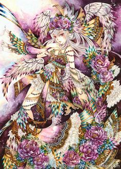 Dream Wings by laverinne on DeviantArt! I love his colorful art and how he fits so much in one picture!