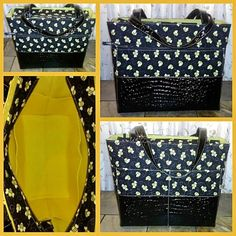 A lovely #Weekender. Our largest #tote from #TooCuteTotes. Comes standard with a large outside zippered pocket and large open pocket, with open #pockets all around inside. #Great for a day #trip, or even a carry-on when you #travel by plane. #bag #tote #purse #fashion #bees #beesknees #buzz #sample **See these #photos individually on our #Facebook page - www.Facebook.com/TCTParadise**