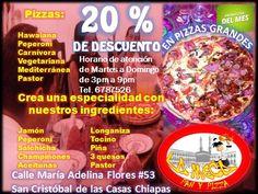 Una combinación de sabores e ingredientes que hacen de estas pizzas disfrutar y gozar a tu paladar que ¡¡¡ricas pizzas!!!
