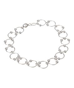 Another great find on #zulily! Sterling Silver Circle Link Bracelet #zulilyfinds