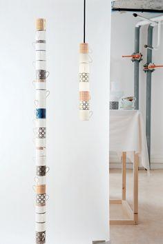 tazas de la maison que no pasan el control de calidad, se convierten en lamparas