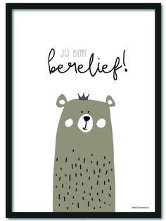 Poster Jij bent berelief! A4 Een berelieve poster in A4 formaat. Leuk om op ge hangen in de babykamer en/of kinderkamer. Geleverd excl. lijst. Ook verkrijgbaar als ansichtkaart.