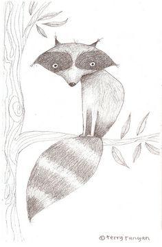 Raccoon on limb.  Terry Runyan