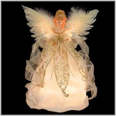 12 Inch Ivory And Gold Angel Tree Top Christmas Tree Angel, Ghost Of Christmas Past, Christmas Tree Toppers, Christmas Decorations, Christmas Store, 1st Christmas, Vintage Christmas, Christmas Crafts, Angel Decor