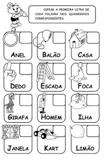 Dani Educar : completar com alfabeto