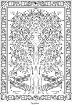 Creative Haven Trees of Life Coloring Book @ Dover Publications Printable Adult Coloring Pages, Coloring Book Pages, Coloring Sheets, Print Pictures, Colorful Pictures, Dover Publications, Egyptian Art, Color Of Life, Color Patterns