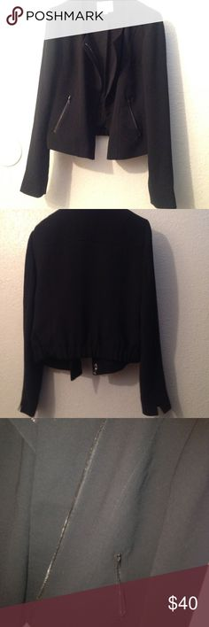 Ann Taylor Loft blazer No flaws, has detail in back and much is shown in pics, all gorgeous black Ann Taylor Jackets & Coats