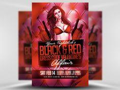 Valentine's Day Black & Red