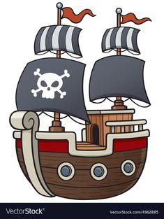 Pirate ship vector image on VectorStock
