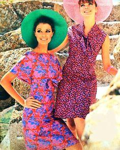 Pink-purple summer dresses, Madeleine (Dutch) March 1967