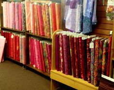More Batiks in Country Stitches, East Lansing, MI store.