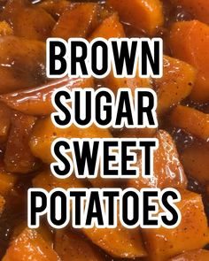 Candied Stove Top Sweet Potatoes with Brown Sugar Butter