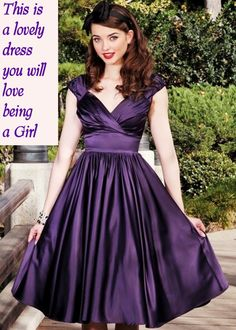 posts of Feminine Feelings to have fun with Feminized Husband, Humiliation Captions, Black Nightgown, Feminize Me, Lovely Dresses, Girly Girl, Night Gown, Pretty In Pink, Party Dress