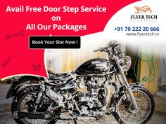Too busy to visit the garage? No problem, avail our doorstep service for free 🙂 Book your slot here:  https://goo.gl/P7oF1K #Flyertech #Doorstepservice