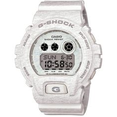G-Shock XL Print Resin Digital Watch, 58mm x 54mm (€135) ❤ liked on Polyvore featuring jewelry, watches, white, digital watch, g shock watches, dial watches, digital wristwatch and resin jewelry