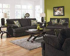 Charcoal grey living room set.