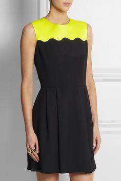 Jonathan Saunders|Benni crepe and satin-crepe dress