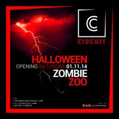 """Zombie Zoo at Circuit, 36-38 North Street, Romford, RM1 1BH, UK. On 1 Nov 2014 at 9:00pm to 4:30am. Circuit's first EVER Saturday and its still Halloween! """"Zombie Zoo"""" party is the theme. Plenty of tricks and a plethora of treats. Anyone of a nervous disposition, this might not be for you. Main Room: Rolling. Bouncy. House.  Residents: Joe Langenhan, Rob Field, Wade Kadir,  URLs: Tickets: http://atnd.it/16833-1 Booking: http://atnd.it/16833-2, Category: Nightlife, Price: £8."""