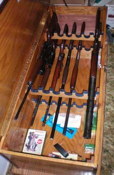 homemade gun rack - Google Search