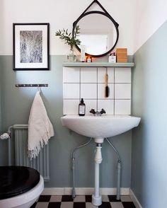 Space Saving Toilet Design for Small Bathroom - Home to Z Scandinavian Bathroom Design Ideas, Bathroom Design Small, Simple Bathroom, Modern Bathroom, Vanity Bathroom, Scandinavian Furniture, Bathroom Shelves, Bathroom Cabinets, Bathroom Designs