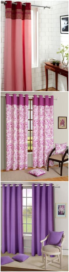 Give your room a luxurious makeover!  Indulge in bright colored #curtains to liven up your beautiful #home.  More than 600 options!  #DiwaliDecor and #FabFurnish