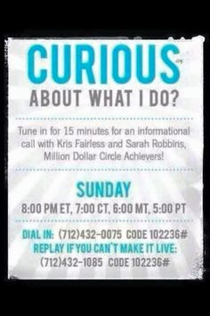 Even after a year of working with this amazing company I still get lots of questions about what I do.   If you follow me on Facebook you see HOW I do it, this call will tell you WHAT I do and later this week you'll hear WHY I said YES to Rodan + Fields!  So take 15 min during halftime of your favorite game today, in the car on your way back from getting pumpkins or the grocery store, or call this number and put it on speakerphone and listen while doing your Sunday laundry.  L