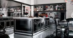 Cucine classiche, cucine artigianali, cucine in legno - Brummel Cucine - Cucine - Diamond B Nero lucido