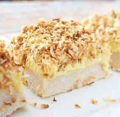 Gluten-Free Vegan Lemon Coconut Squares {Refined Sugar-Free and Paleo}