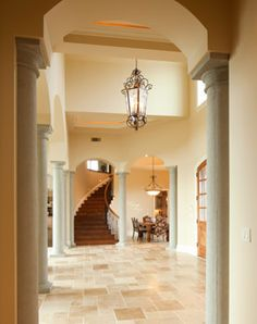 Front Entry, Stairs, Columns, French Country: Avgerakis Collaborate + Design + Build: Joe Karman Architecture