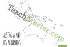 Australia and Its Neighbours - Blank | Teaching Resources - Teach Starter