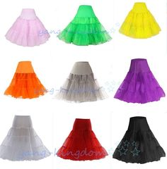 Hot Short  Retro Bridal Underskirt Vintage Petticoats Fancy Net Skirt Slip Women