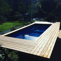 Still loving the cedar decking surrounding this Modpool. Homemade Swimming Pools, Swimming Pool Cost, Shipping Container Swimming Pool, Swiming Pool, Above Ground Swimming Pools, Swimming Pool Designs, In Ground Pools, Mod Pool, Deck Cost