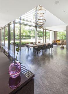 Residential Architecture, Interior Architecture, Interior Design, Built In Furniture, Glass Facades, Loft House, 2 Storey House Design, Prefab Homes, Villa