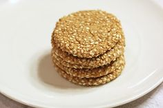 finding my niche: Sesame Cookies. Simple and grain free. Sugar Free Desserts, Gluten Free Desserts, Just Desserts, Healthier Desserts, Recipe For Sesame Cookies, Almond Meal Cookies, Cookies Vegan, Whole Food Recipes, Cookie Recipes