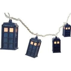 Doctor Who Tardis String Lights from Rabbit Tanaka Disc: Affiliate Link