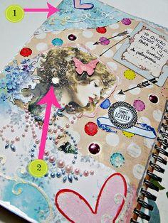 Mini-tutorial inspiración CinderellaSmashBook: http://cinderellatmidnight.com/2013/07/11/pequena-muestra-tutorial-del-smashbook-cinderella/
